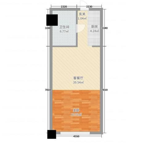 舜大和园2厅1卫0厨58.00㎡户型图