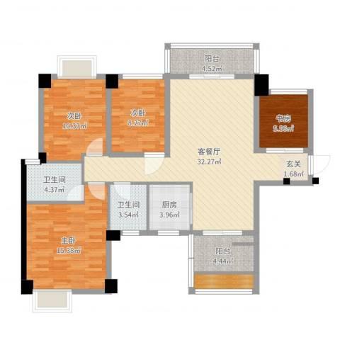 泰禾•江山美地4室2厅2卫1厨118.00㎡户型图
