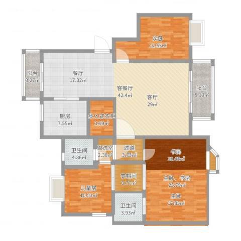 都市花园2室2厅1卫1厨159.00㎡户型图