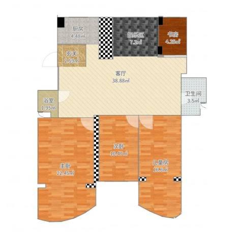 世纪嘉园4室1厅1卫1厨133.00㎡户型图
