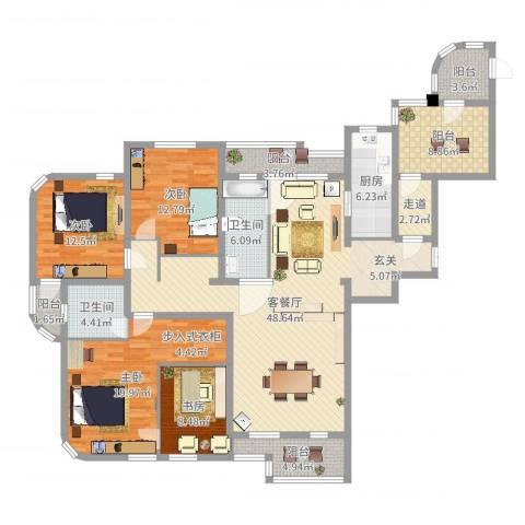 德泰岭秀逸城4室2厅2卫1厨181.00㎡户型图