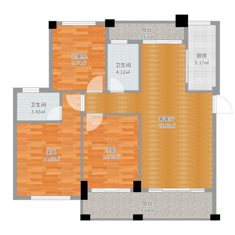 家和城B-6#装修C