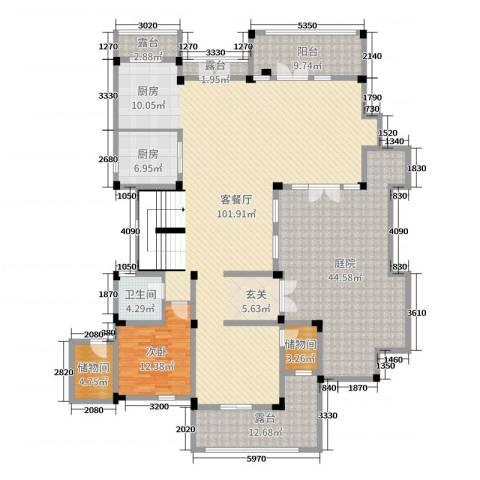 亚特兰蒂斯黄金时代1室2厅1卫1厨502.00㎡户型图