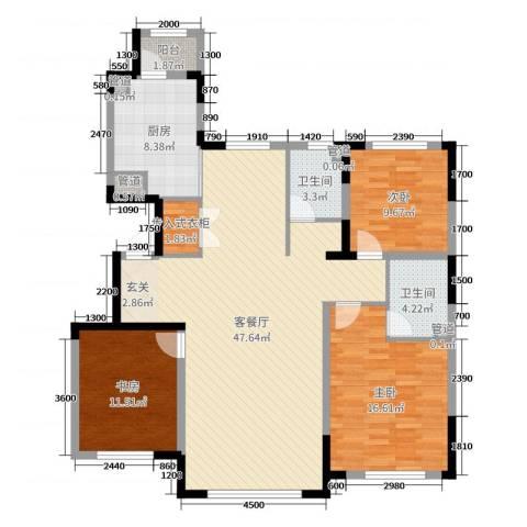 宇都和源3室2厅2卫1厨140.00㎡户型图