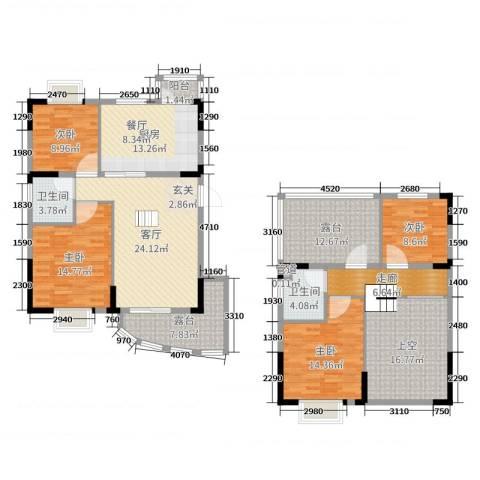 圣特立国际花园4室1厅2卫1厨151.00㎡户型图
