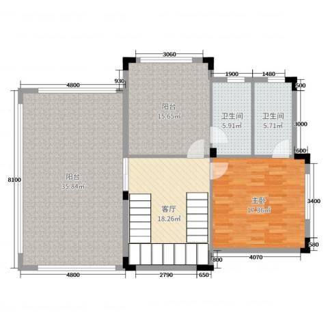 佛冈奥园温泉别墅1室1厅2卫0厨323.00㎡户型图