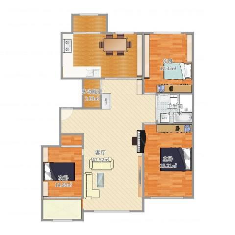新星宇之洲2室1厅1卫1厨125.00㎡户型图