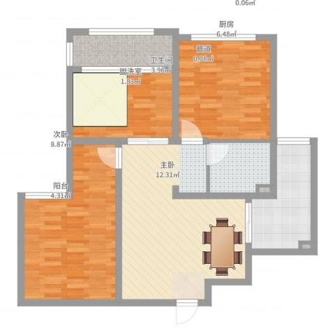 海情丽都3室2厅1卫1厨107.00㎡户型图