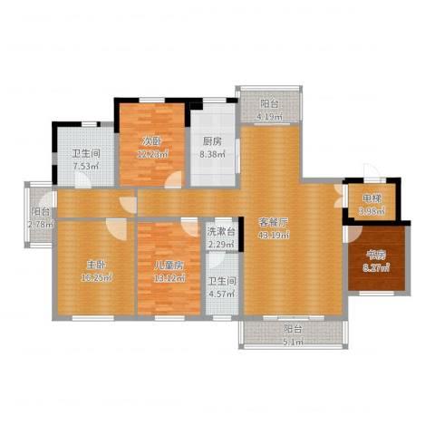 新地阿尔法国际社区4室2厅2卫1厨171.00㎡户型图