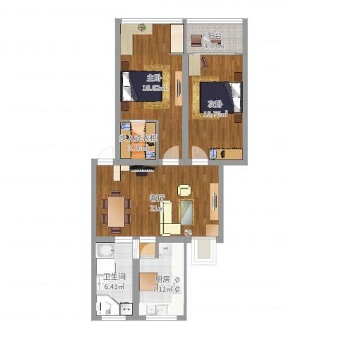向阳雅居2室1厅1卫1厨91.00㎡户型图