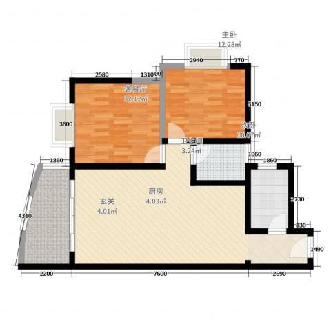阳光名城2室2厅1卫1厨80.00㎡户型图