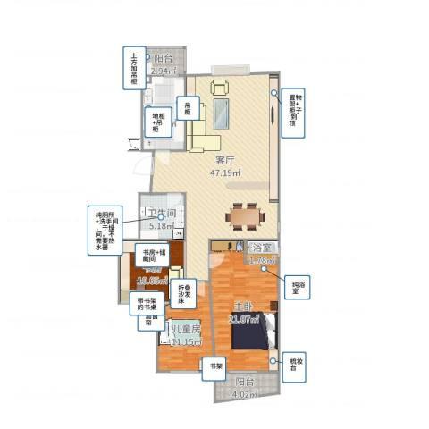 数码港公寓53室1厅1卫1厨140.00㎡户型图