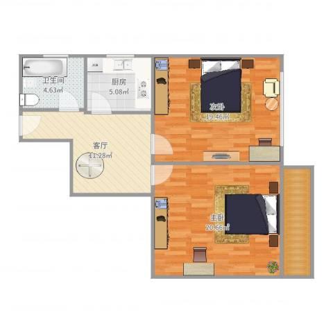 延吉东路137弄小区2室1厅1卫1厨82.00㎡户型图