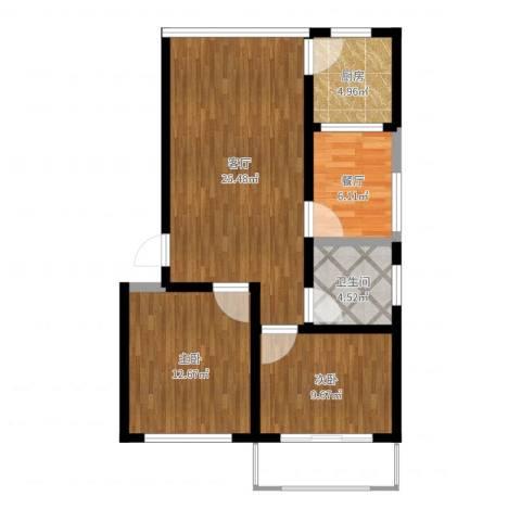 芙蓉花园2室2厅1卫1厨79.00㎡户型图