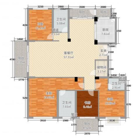 栖霞栖园4室2厅3卫1厨200.00㎡户型图