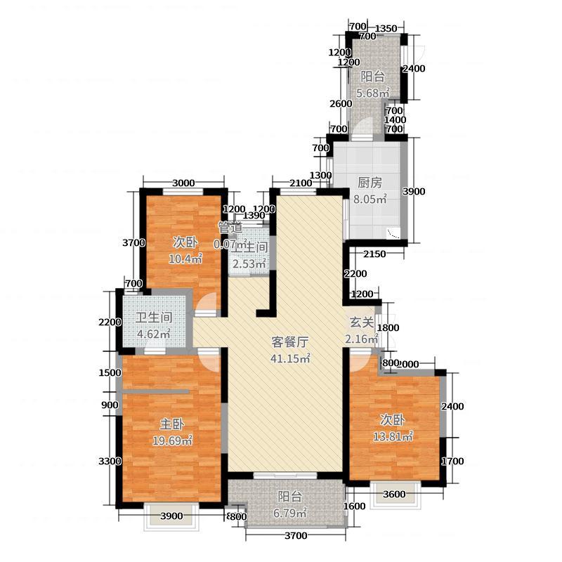 金域湾畔2期-领馆1号149.00㎡D户型3室3厅2卫1厨