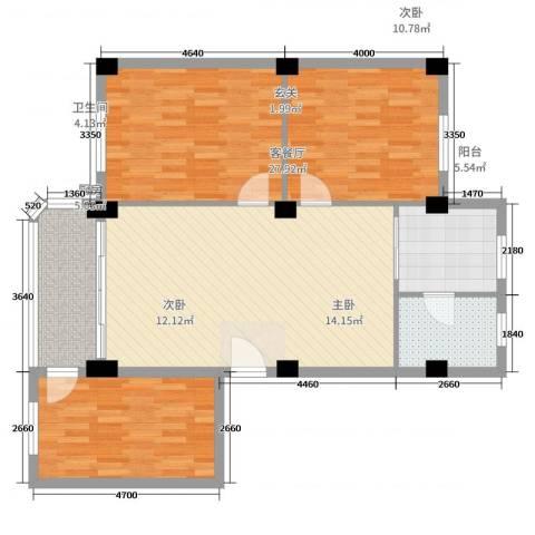 翠景花园一期3室2厅1卫1厨90.00㎡户型图
