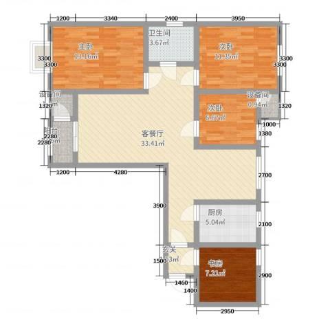 乾隆学府4室2厅1卫1厨110.00㎡户型图