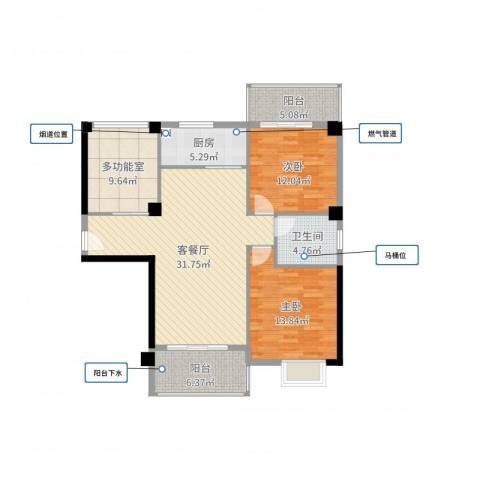 福泰海湾新城2室2厅1卫1厨111.00㎡户型图