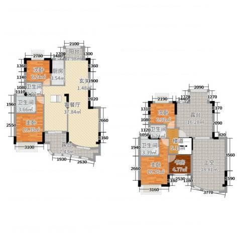 圣特立国际花园5室2厅4卫1厨176.00㎡户型图