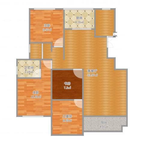 正商红河谷4室2厅1卫1厨113.00㎡户型图