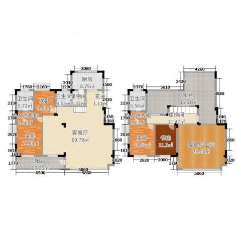 九龙仓时代上城4室2厅3卫1厨246.64㎡户型图