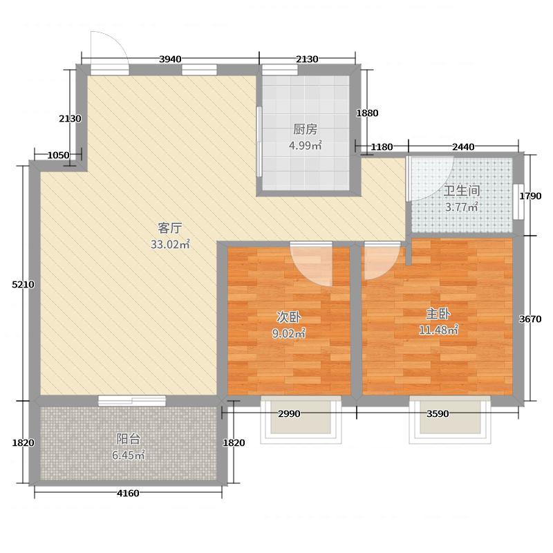 2- 首创禧悦翠庭 F82室2厅