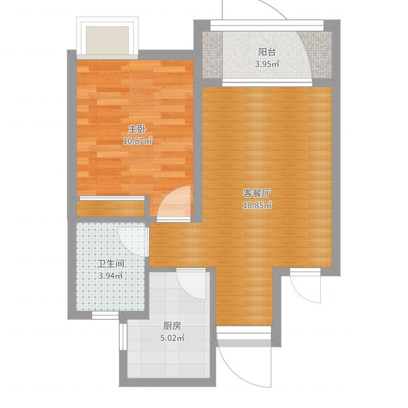 B1户型一室两厅