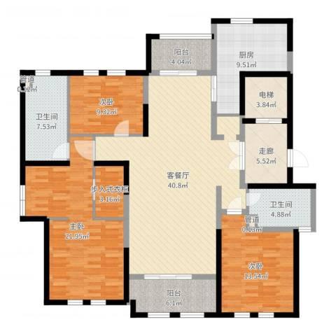 安亭瑞仕华庭3室2厅2卫1厨163.00㎡户型图