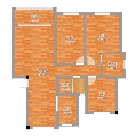 翠湖天地三期3室2厅2卫1厨120.00㎡户型图