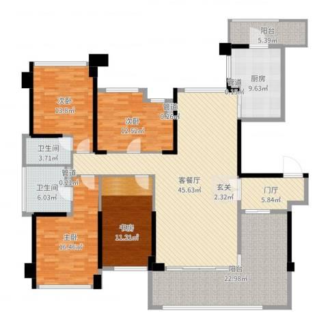 绿岛湖壹号3室2厅2卫1厨196.00㎡户型图