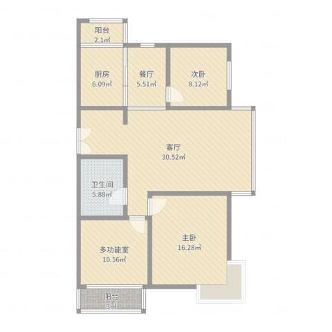 未来城2室2厅1卫1厨110.00㎡户型图
