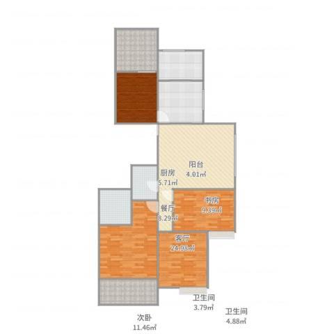 名仕花园4室2厅2卫1厨150.00㎡户型图