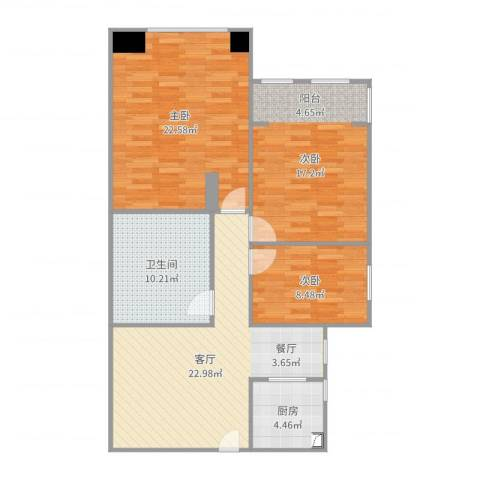 兴隆家园3-7033室1厅1卫1厨85.92㎡户型图
