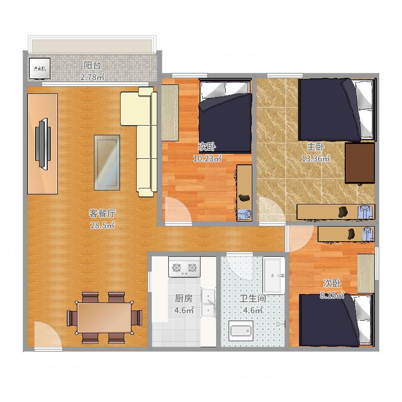 小三房装修设计方案
