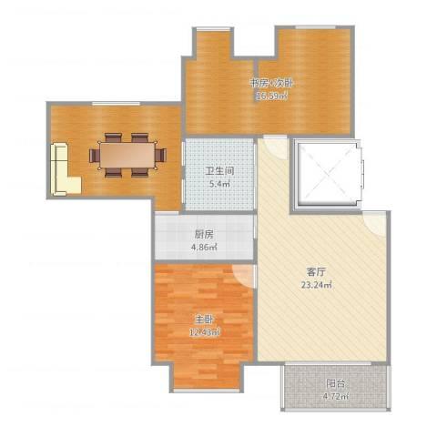 万科金色城市1室1厅1卫1厨101.00㎡户型图
