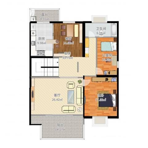 大洋山庄2室1厅1卫1厨123.26㎡户型图
