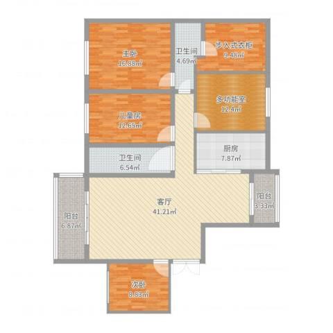 新地阿尔法27栋3室1厅2卫1厨163.00㎡户型图