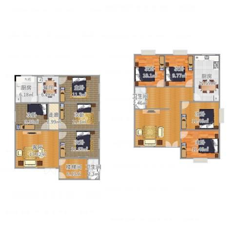 润城・双璧湾8室2厅2卫2厨215.00㎡户型图