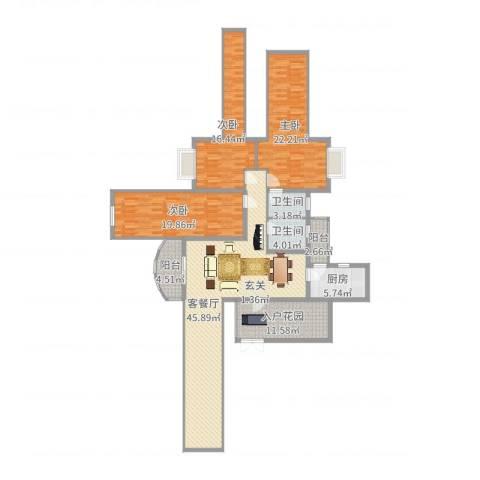 中央商务区CBD(南区)3室2厅2卫1厨170.00㎡户型图