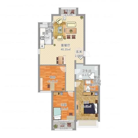 飞宇花园南区4室2厅1卫1厨123.00㎡户型图