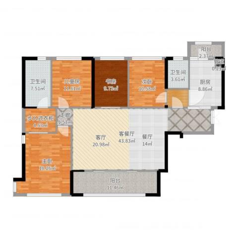 万科紫台4室2厅2卫1厨169.00㎡户型图