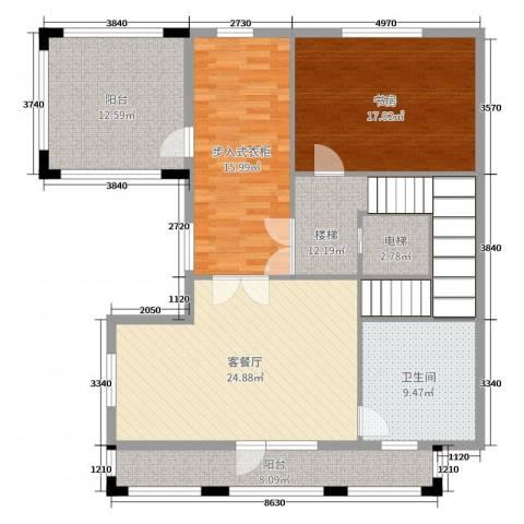 华贸公园郡1室2厅1卫0厨327.00㎡户型图