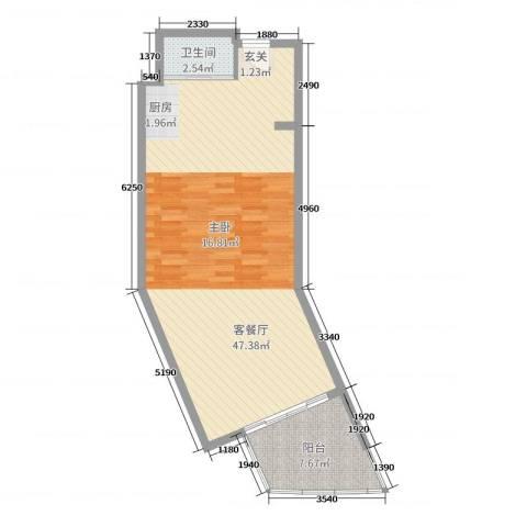 博鳌亚洲湾2厅1卫0厨72.00㎡户型图