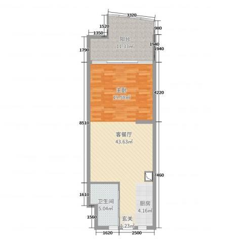 博鳌亚洲湾2厅1卫0厨75.00㎡户型图