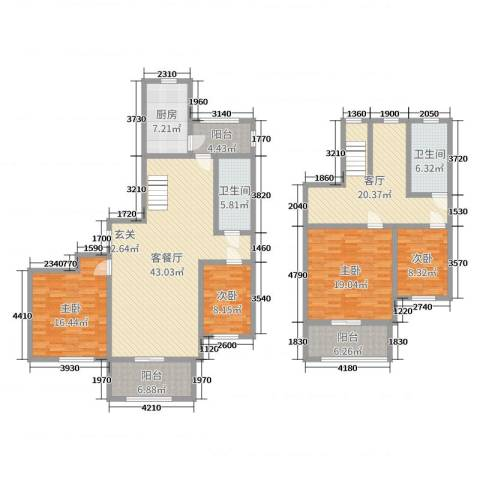 南门华府4室3厅2卫1厨191.00㎡户型图