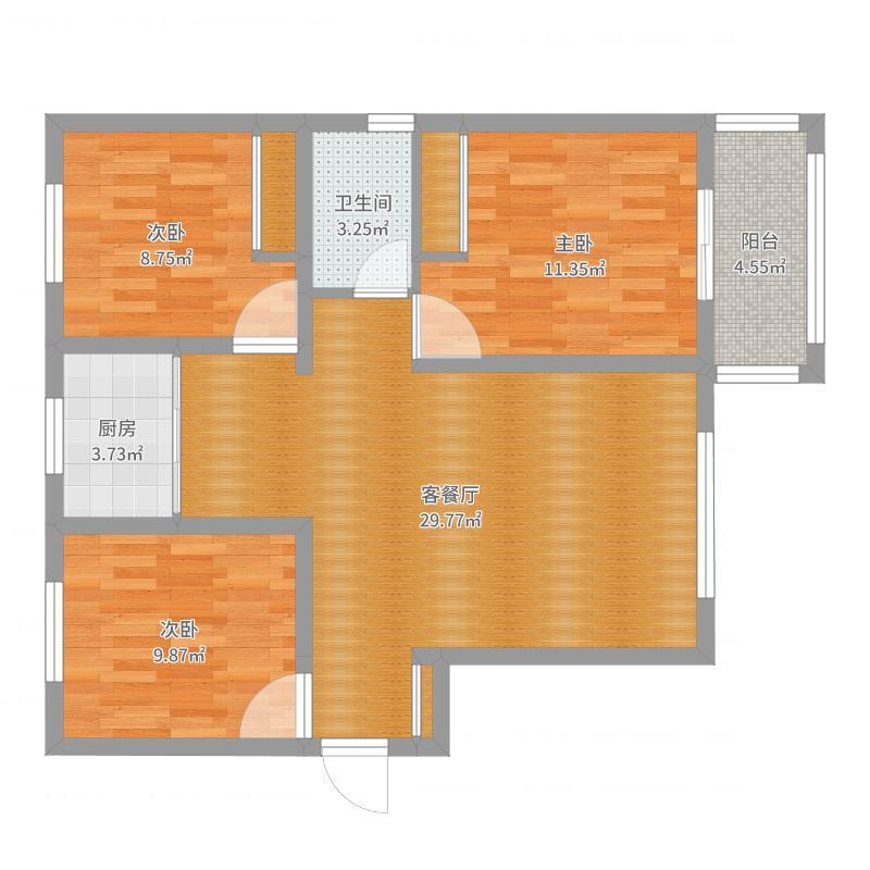 凤凰城B区116三室两厅