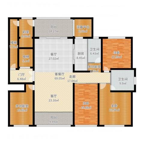 海鑫花园3室2厅2卫1厨287.00㎡户型图