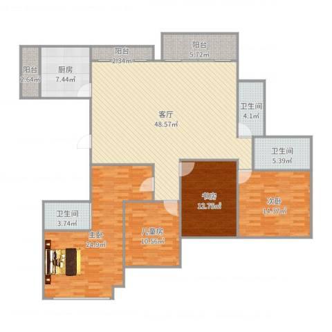 山语清晖花园4室1厅3卫1厨178.00㎡户型图