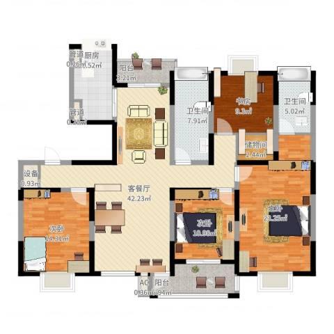 和美第4室2厅2卫1厨192.00㎡户型图